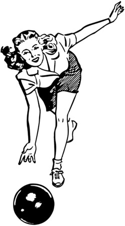 bowling: Woman Bowling