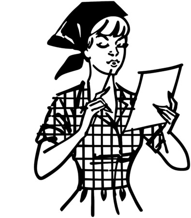 homemakers: Woman Checking List