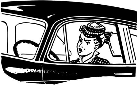 motorists: Woman Driver Illustration