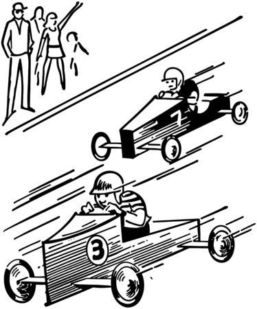 Soap Box Derby Illustration