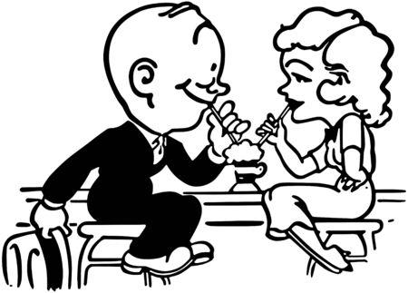 Soda Shop Romance Vector