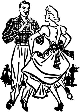 Square Dancers 2 Illustration