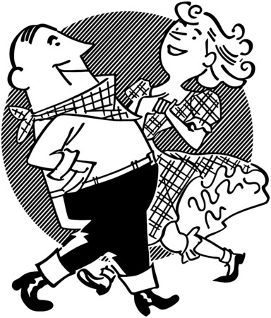 Square Dancing Couple Vector