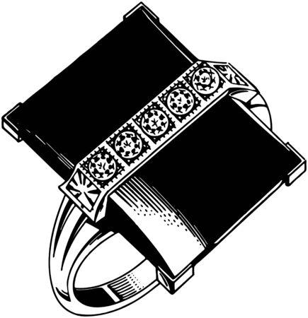 square: Square Onyx Ring