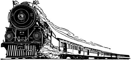 sante: Steam Locomotive Illustration