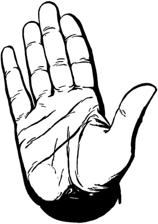 hand touch: Stop Hand Illustration