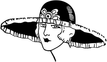 flappers: Con estilo Deco Gal Vectores