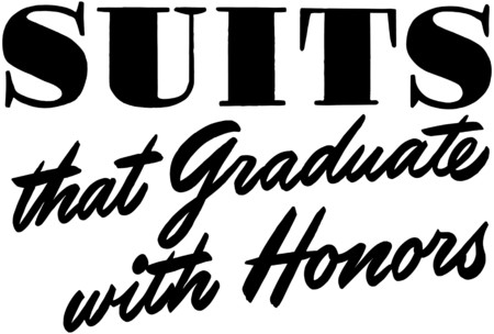 headings: Suits That Graduate Illustration