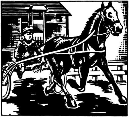 Sulky Racing Illusztráció