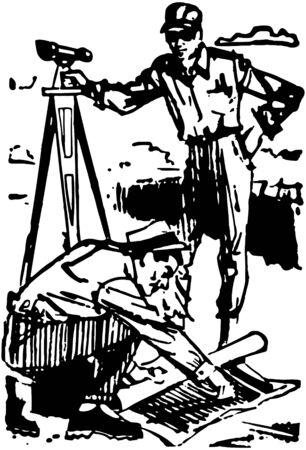 Surveyors Vektoros illusztráció