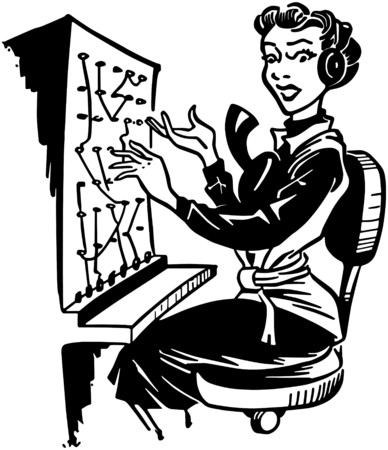 switchboard operator: Switchboard Operator Illustration