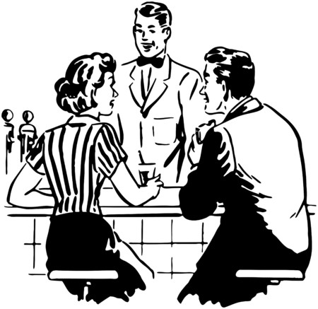 Talking With The Soda Jerk 向量圖像