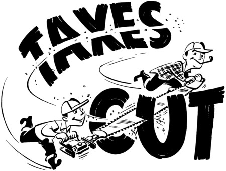 headings: Taxes Cut Illustration