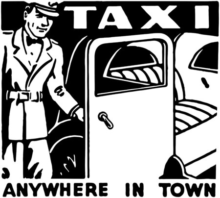 Taxi Anywhere In Town  イラスト・ベクター素材