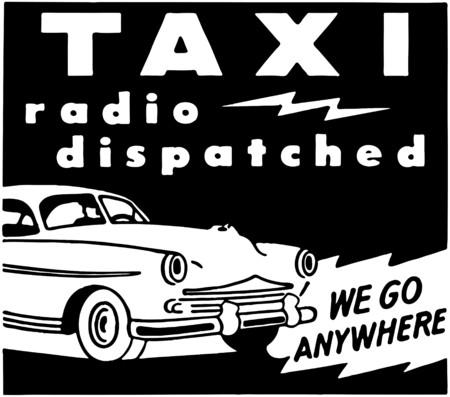 Taxi Radio Dispatched Illusztráció