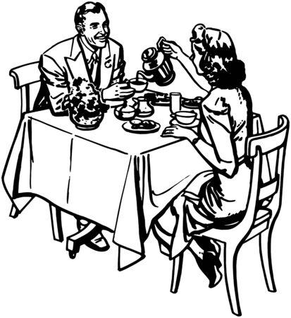La hora del té Vectores