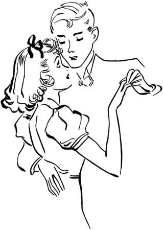 galas: Teen Couple Slow Dancing