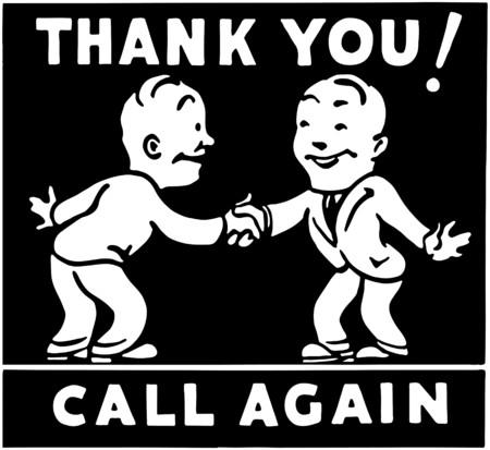 manos estrechadas: Gracias llamar de nuevo 3