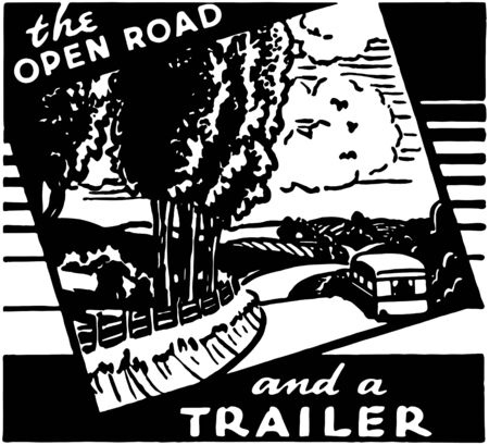 open road: The Open Road Illustration