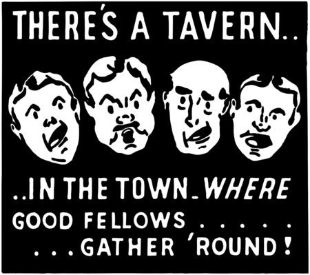 Theres A Tavern Vector
