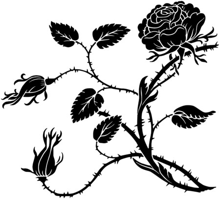 Thorny Rose Vector