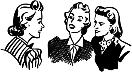 gals: Three Gals Chatting
