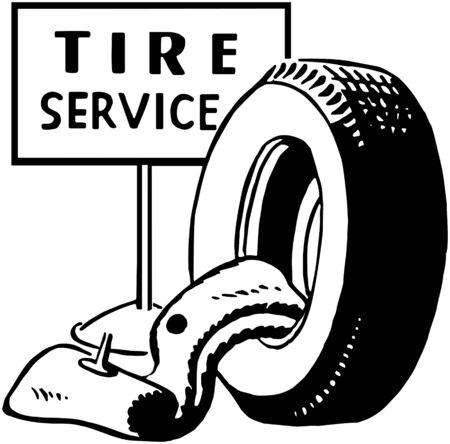 tire service: Tire Service Illustration