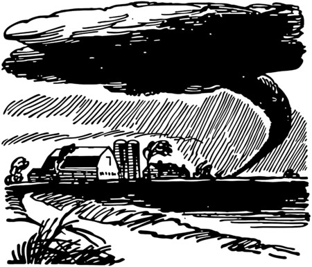 tornadoes: Tornado Approaching Farm