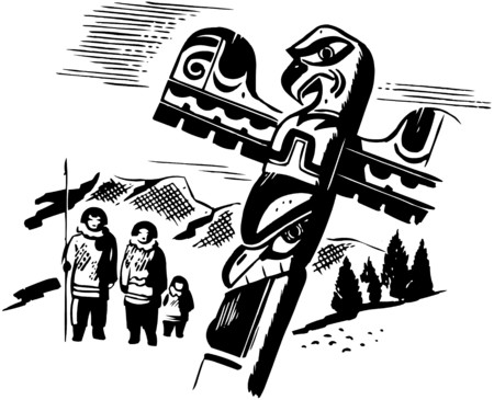 american stories: Totem Pole