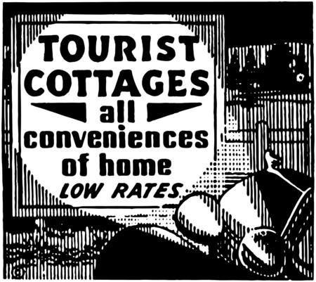 Tourist Cottages Vector
