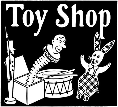 toy shop: Toy Shop Illustration