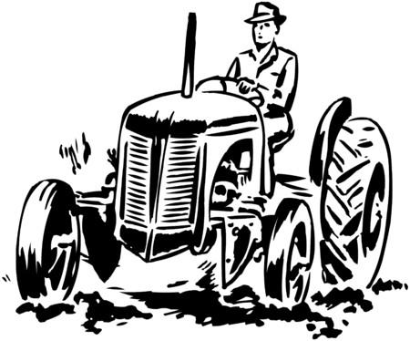 トラクター 2  イラスト・ベクター素材