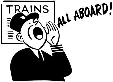 Train Conductor Vectores