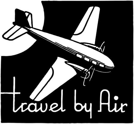 Travel By Air Illusztráció