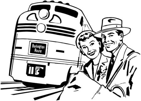 literas: En tren Vectores