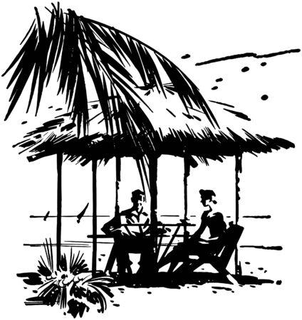 carribean: Vacaciones tropicales Vectores