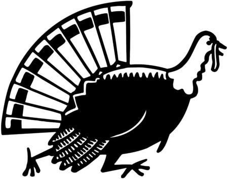 Turkey Running Vector