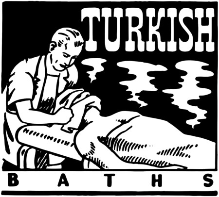 Turkse baden Stock Illustratie