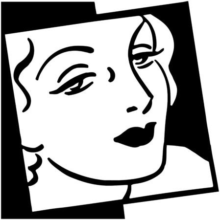 francais: Woman In Vogue Illustration