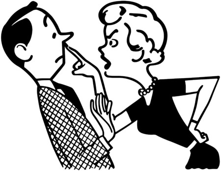 Woman Scolding Husband 向量圖像