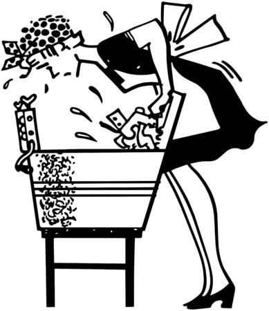 suds: Woman Using Washboard