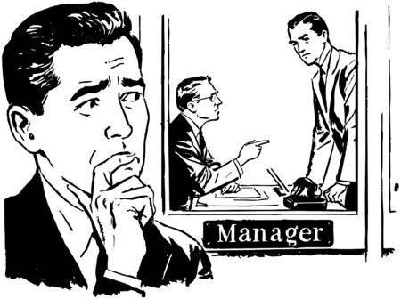 contemplates: Worried Man 2 Illustration