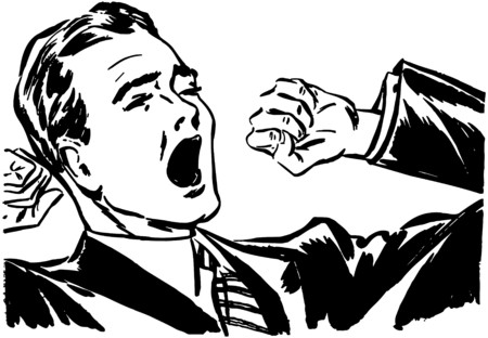 Yawning And Stretching Ilustração