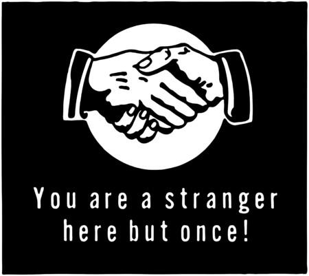 manos estrechadas: Eres un extraño