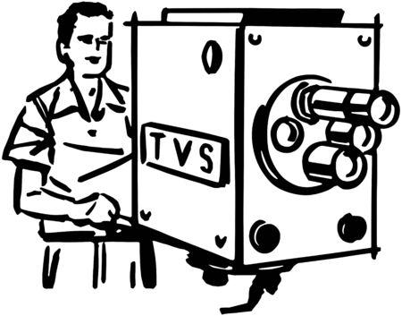 airwaves: TV Cameraman Illustration