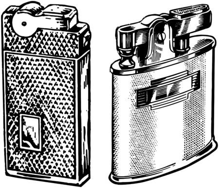 encendedores: Dos Encendedores Vectores