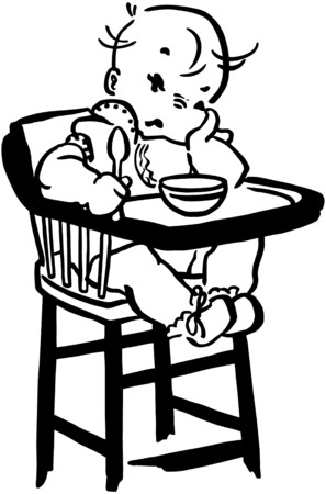whining: Unhappy Baby Illustration