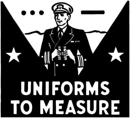 tough man: Uniforms To Measure Illustration