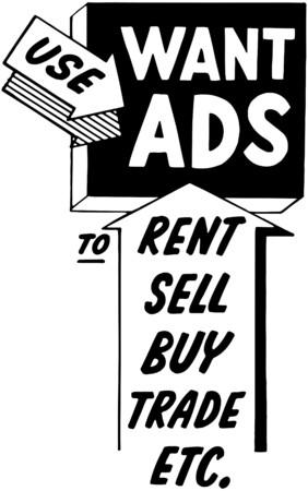 week: Use Want Ads Illustration