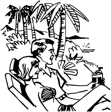 Vacation Couple Vector